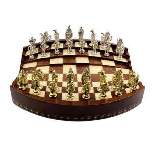 Шахматы «ARENA 3D»/калифорнийский орех, перламутр - Фото
