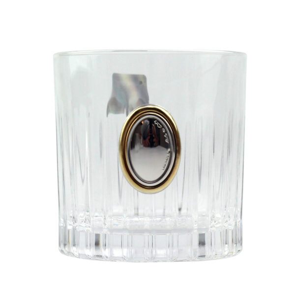 Сет для виски Boss Crystal «ГАРМОНИЯ КВИНТА GOLD», графин, 4 стакана, золото и серебро