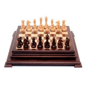 Шахматы «Classic»/красное дерево - Фото